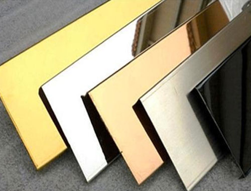 Gold, Rose Gold, Colored Stainless Steel Sheets